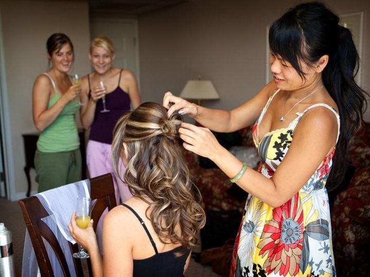 Tmx 1501784774825 Sc Bride Getting Hair Did Edwards, Colorado wedding planner