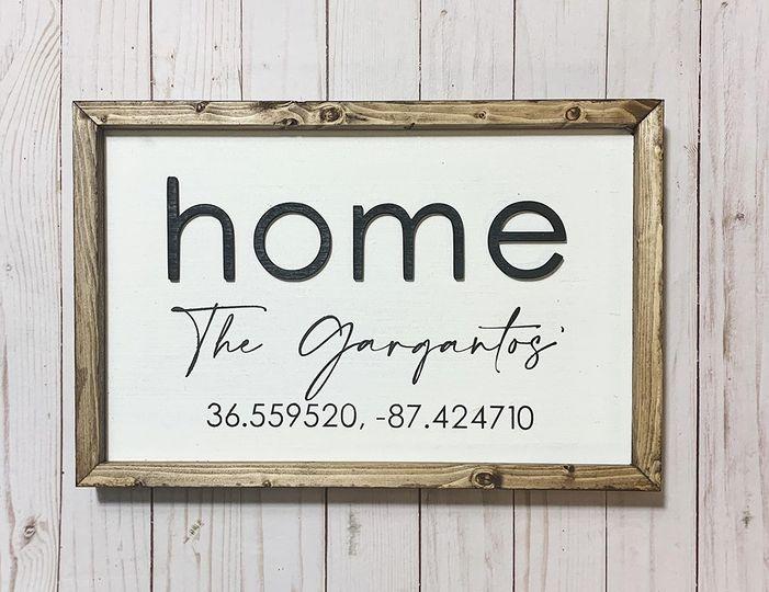 3d home - custom last name