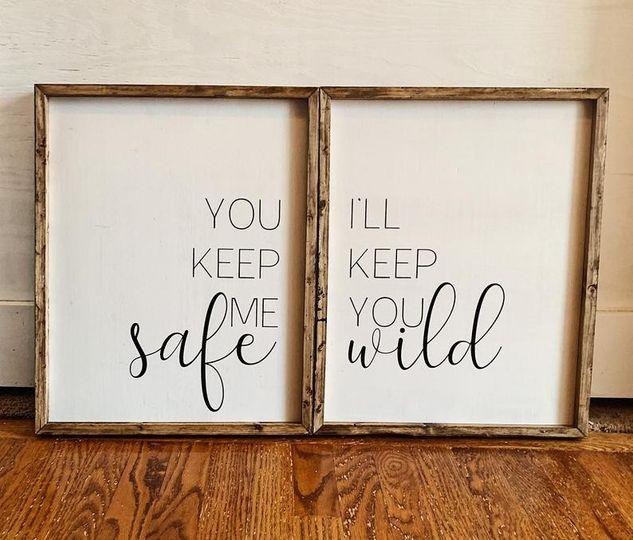 Safe/wild sign