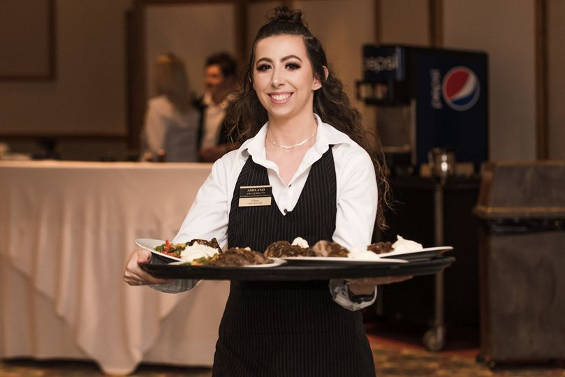 Serving the guests