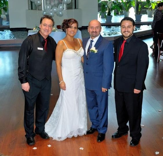 DJ Buddy & DJ Adonis of Let's Party! DJs & Entertainment with one of our Happy Couples at Pavilion...