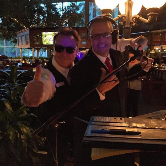 DJ Buddy & DJ Carlos of Let's Party! DJs ready to rock it at Pavilion Grille / Boca Raton for the...