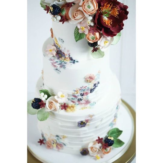 Hand painted with sugar flower