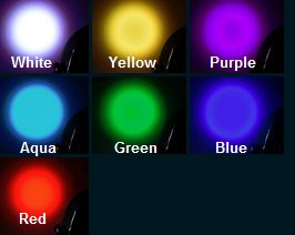Uplight color options