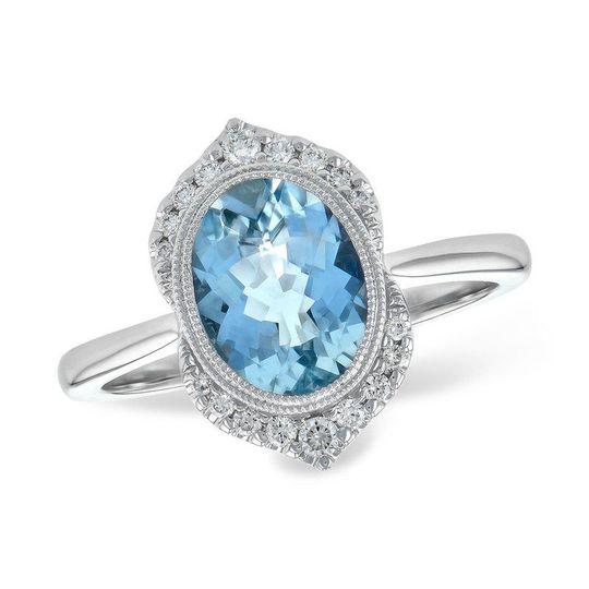 "Aqua Marine engagement ring or ""something blue"" for the wedding day."