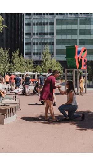 Proposal In Love Park