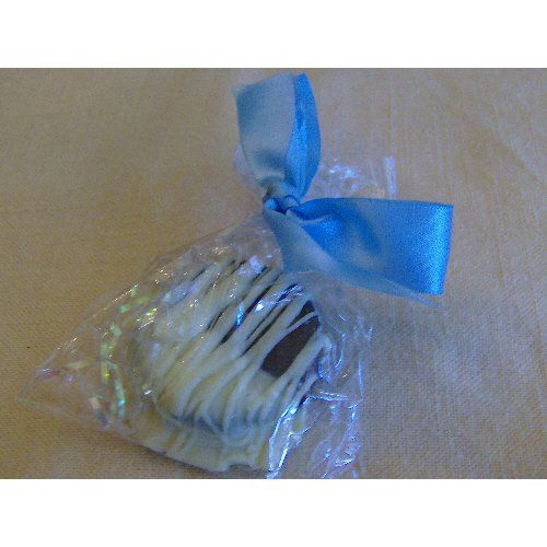Chocolate covered oreos in a cello bag and tied with ribbon of your choice.