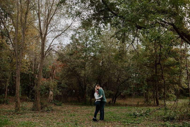 Engagement Photo on grounds
