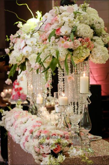 White and pink floral arrangement