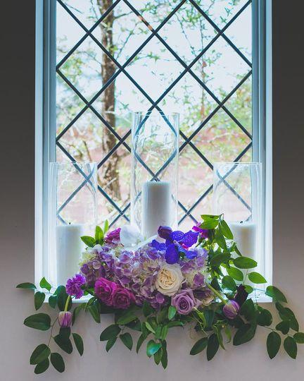 Window Floral Arrangement