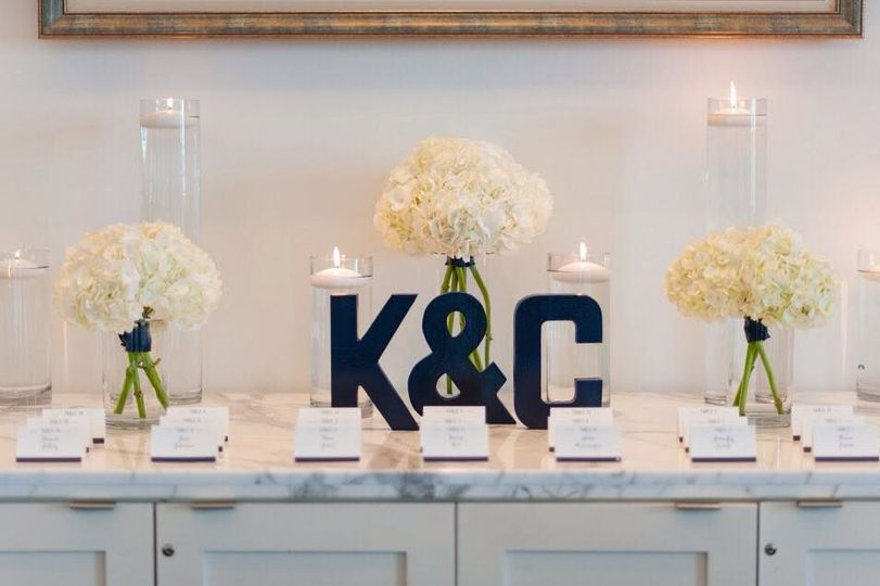 Card Table Designed by L.A. Flowers, Inc. Hotel Arista Naperville WeddingBeautiful Photo Taken by:...