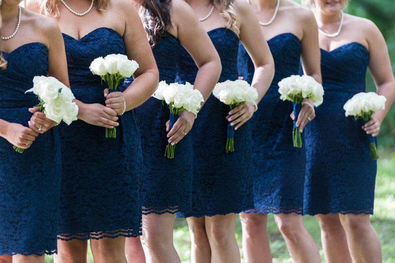 Bridesmaids' Bouquets Designed by L.A. Flowers, Inc.  Hotel Arista Naperville Wedding Beautiful...