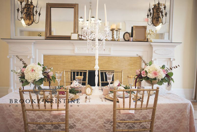 Reception Table Centerpieces Designed by L.A. Flowers, Inc.Wilder Mansion ElmhurstStunning Photo...