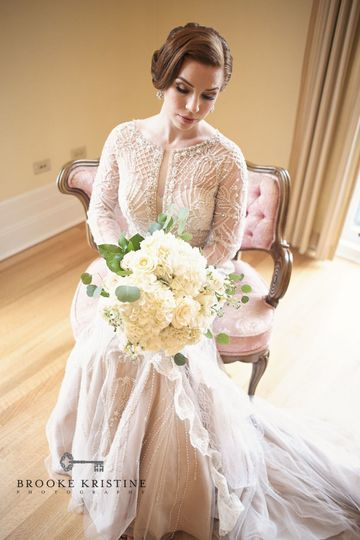 Bridal Bouquet  Designed by L.A. Flowers, Inc.Wilder Mansion ElmhurstStunning Photo Copyright Owned...