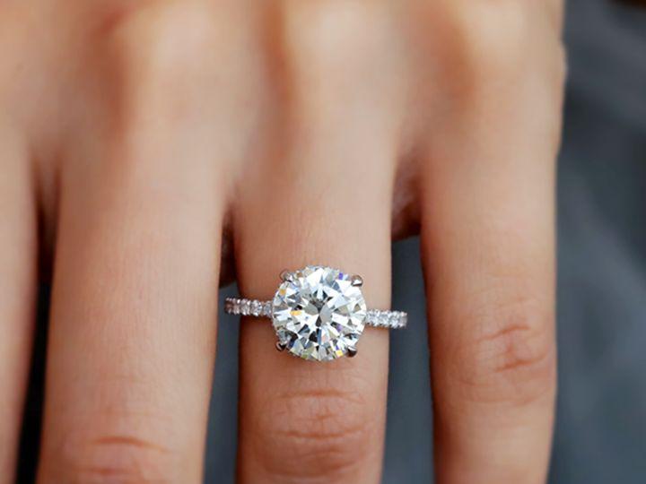 Tmx 4 09ct Round Diamond Halo Engagement Ring 2 51 411923 1570477564 Dallas, TX wedding jewelry