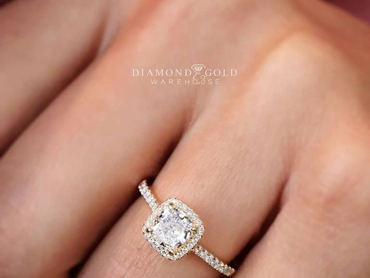 Tmx Cushion Yg Halo Ring 51 411923 157850598737648 Dallas, TX wedding jewelry