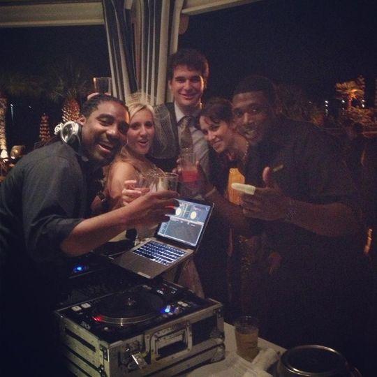 Wedding celebration with the DJ