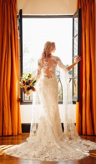 Details of bride's dress