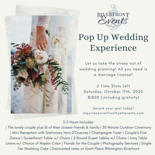 Pop Up Weddings!