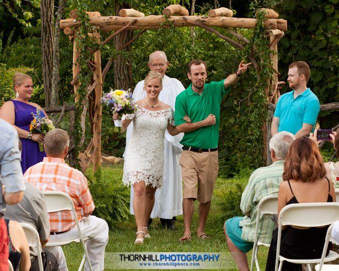 Summer casual outdoor wedding.