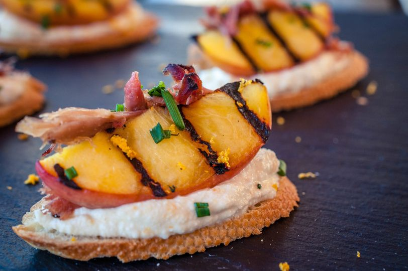 """Pork & Peach"" Appetizer"