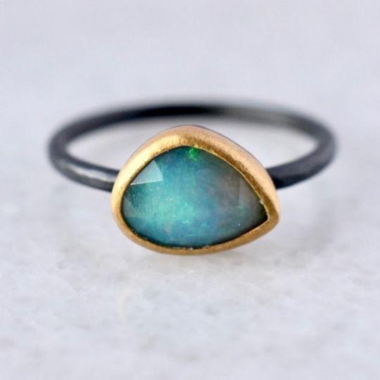 Australian Opal + 22K gold