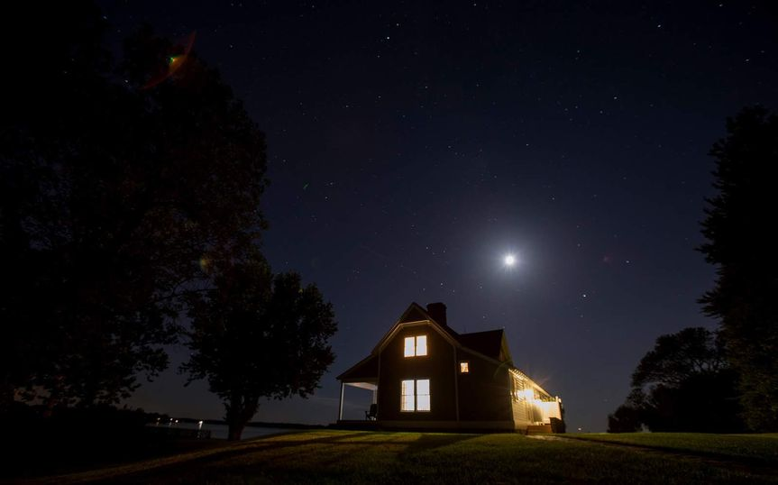 Beach House Night Sky