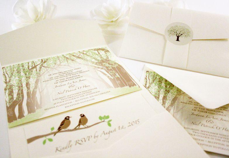 oak tree tunnel invitation pocketfold upload