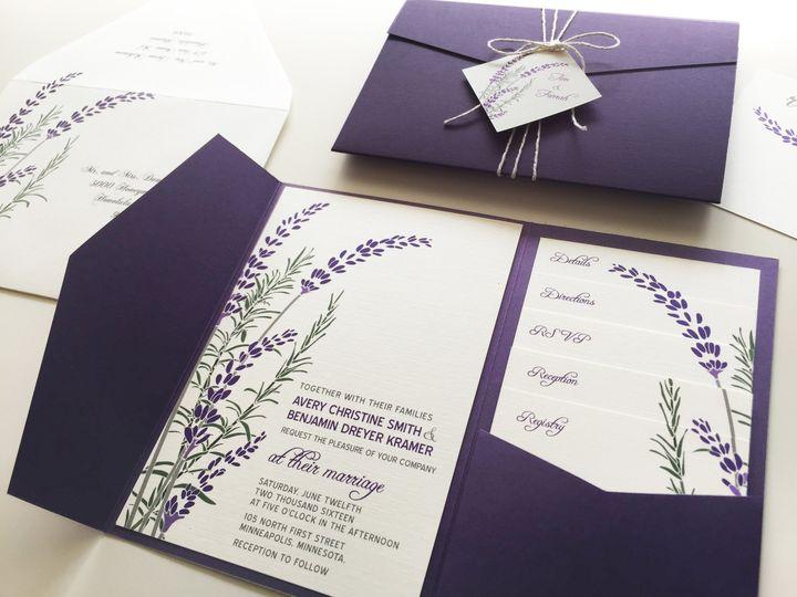 lavender invitation new small right side