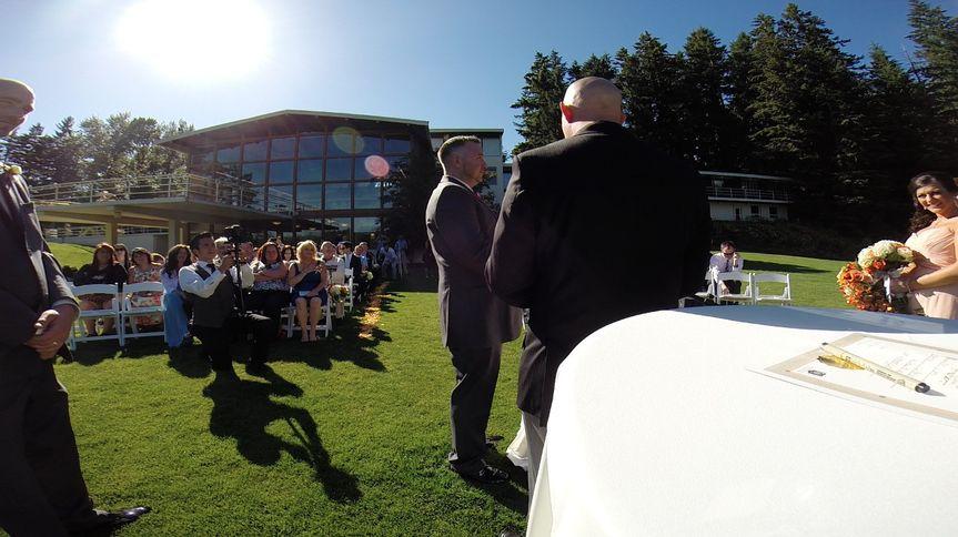 Go pro coverage during ceremony
