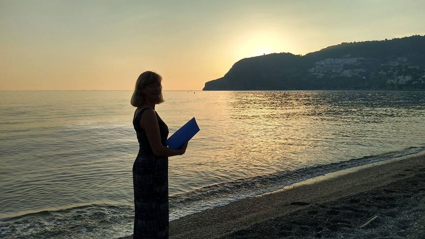Officiant by the sea