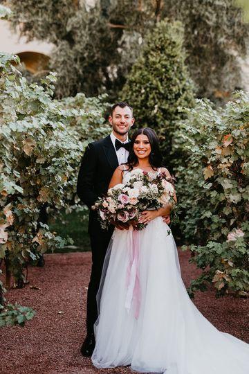 Elegant backyard wedding!
