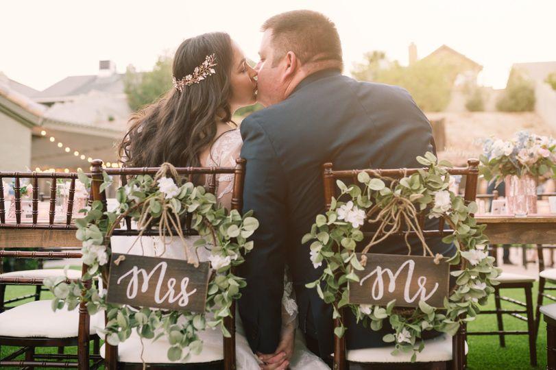 A micro-wedding at home...