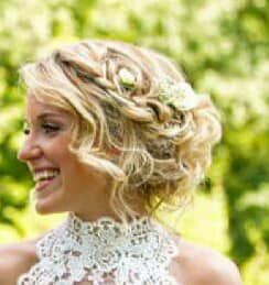 Bridal hair model