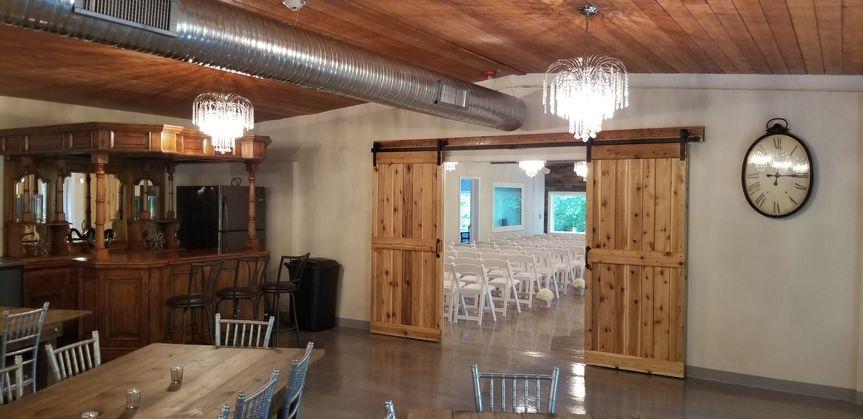 Full bar setup for receptions