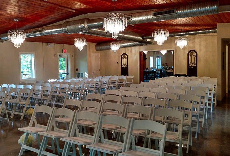Seating indoor chapel