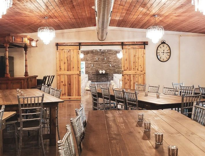 Banquet hall and bar area
