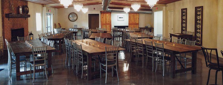 Banquet hall/bar for reception