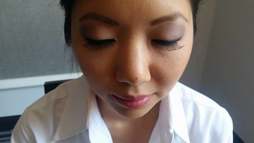 Eye makeup and lash work