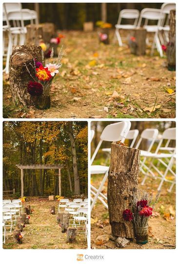lovewell lodge oct wedding aisle decor