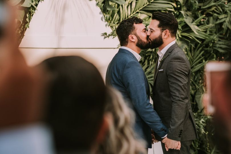 A ceremony for two grooms