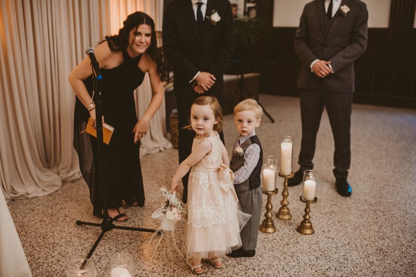 The kids of the bride and groom