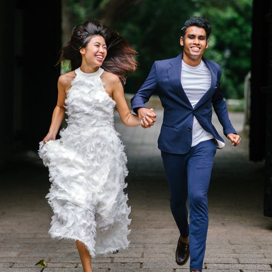 The wedded couple