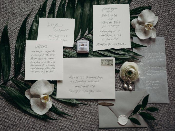 Hand torn wedding details