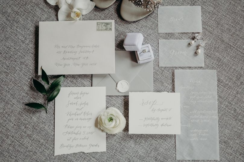 Handwritten wedding invite