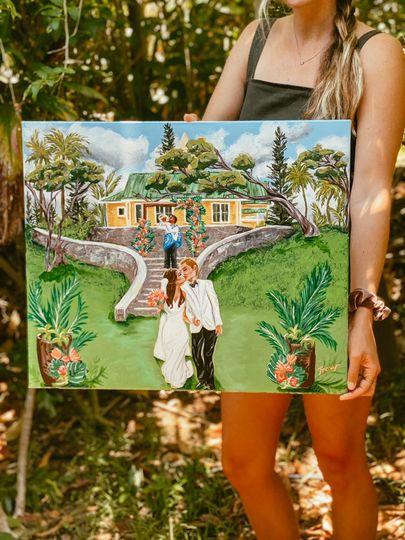 Steeple House Maui Wedding