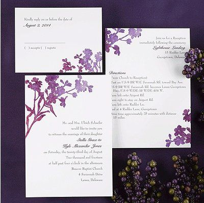Tmx 1346942595338 CarlsonWatercolorpurple Port Orange, FL wedding invitation