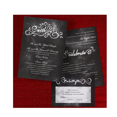 Tmx 1479477704757 Chalkboard 1 Port Orange, FL wedding invitation