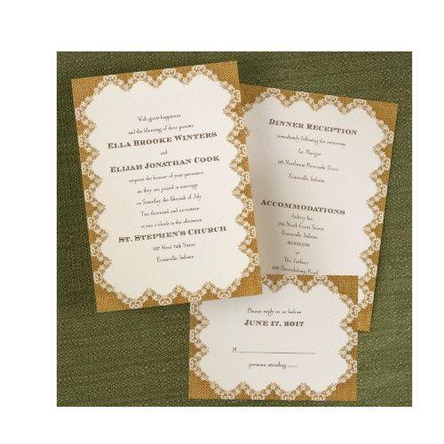 Tmx 1479477760508 Burlap 3 Port Orange, FL wedding invitation