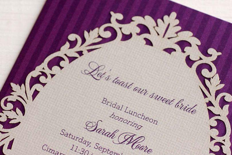 Bridal luncheon invite
